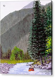 Rafting The Gallatin Acrylic Print
