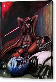 Rage Of The Jedi Acrylic Print