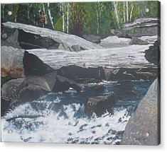 Acrylic Print featuring the painting Ragged Falls by Betty-Anne McDonald