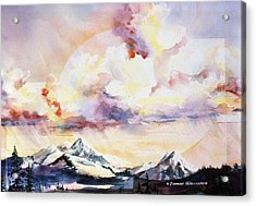 Ragged Mountains Sunset Acrylic Print