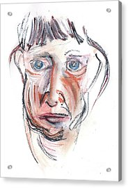 Acrylic Print featuring the drawing Raggedy Selfie by Carolyn Weltman