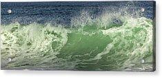 Raging Aqua Sea Acrylic Print by Paula Porterfield-Izzo