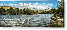 Raging Payette River Acrylic Print by Robert Bales