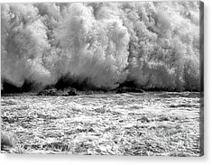 Raging Water Acrylic Print by Olivier Le Queinec