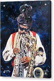 Rahsaan Roland Kirk- Jazz Acrylic Print by Sigrid Tune