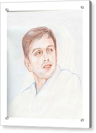 Rahul Dravid  Indian Cricketer Acrylic Print
