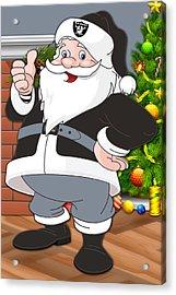 Raiders Santa Claus Acrylic Print by Joe Hamilton