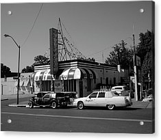 Acrylic Print featuring the photograph Raifords Disco Memphis A Bw by Mark Czerniec