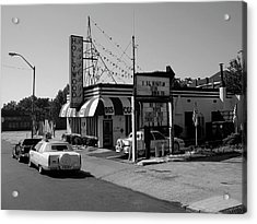 Acrylic Print featuring the photograph Raifords Disco Memphis B Bw by Mark Czerniec