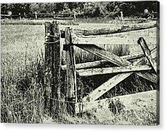 Rail Fence Acrylic Print by JAMART Photography