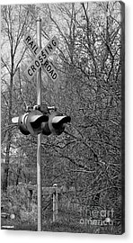 Acrylic Print featuring the photograph Rail Road Crossing by Juls Adams