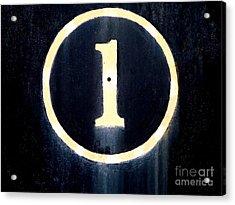 Rail Rust - Locomotive - No. 1 Acrylic Print