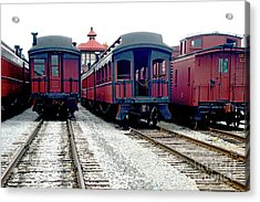 Acrylic Print featuring the photograph Rail Stock by Paul W Faust - Impressions of Light