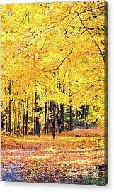 Autumn Glory On The Rail Trail Acrylic Print
