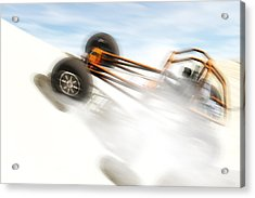 Rail Vehicle In The Dunes Acrylic Print