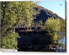 Railroad Bridge Over The Potomac Acrylic Print by Rebecca Smith