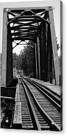 Railroad Bridge Acrylic Print by Sonja Anderson