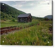 Railroad Cabin Acrylic Print
