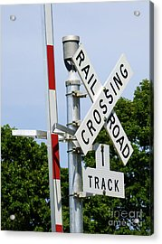 Railroad Crossing Acrylic Print
