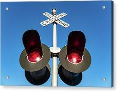 Railroad Crossing Lights Acrylic Print