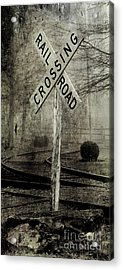 Railroad Crossing Acrylic Print by Michael Eingle