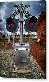 Railroad Crossing Signal Acrylic Print