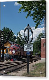 Railroad Crossing Acrylic Print by Suzanne Gaff