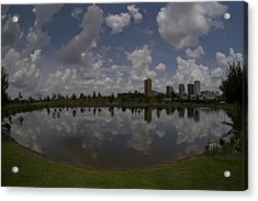 Railroad Park Reflection Acrylic Print