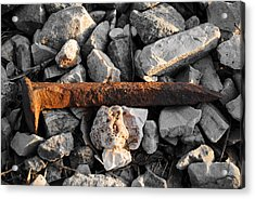 Railroad Spike Acrylic Print