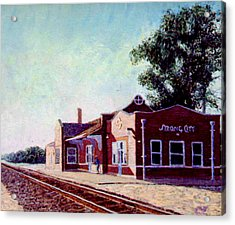 Railroad Station Acrylic Print by Stan Hamilton