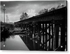 Railroad Tracks 2 Acrylic Print by Matthew Angelo
