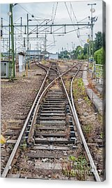 Acrylic Print featuring the photograph Railroad Tracks And Junctions by Antony McAulay