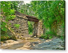 Railroad Tracks At Buttermilk/homewood Falls Acrylic Print