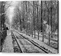 Railroad Tracks Acrylic Print by Fred Baird