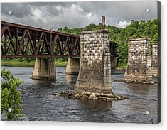 Railroad Trestle Acrylic Print by Laurie Breton