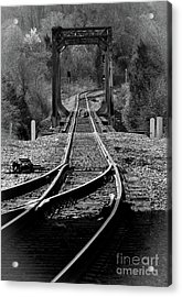 Rails Acrylic Print by Douglas Stucky