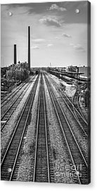 Rails Through Birmingham Acrylic Print