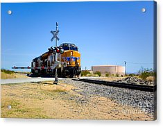 Railway Crossing Acrylic Print