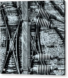 Acrylic Print featuring the photograph Railway Detail by Wayne Sherriff