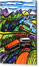 Railway Express Acrylic Print by Monica Engeler