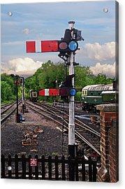 Railway Signals Acrylic Print