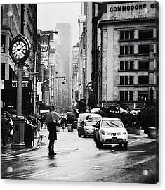 Rain - New York City Acrylic Print by Vivienne Gucwa