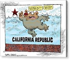 Rain And Drought In California Acrylic Print