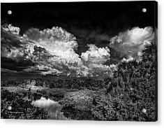 Rain And Lighting Acrylic Print by Marvin Spates