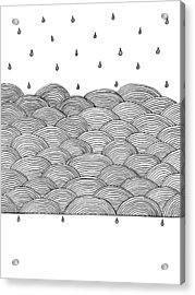 Rain And Sea Acrylic Print by Konstantin Sevostyanov