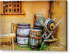 Rain Barrels Acrylic Print