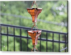 Acrylic Print featuring the photograph Rain Chains by D K Wall