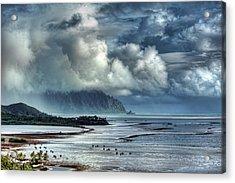 Rain Clearing Kaneohe Bay Acrylic Print