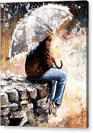 Rain Day Acrylic Print by Emerico Imre Toth