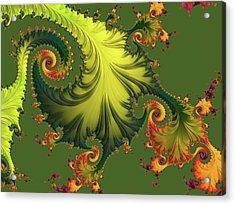 Rain Forest Acrylic Print by Susan Maxwell Schmidt